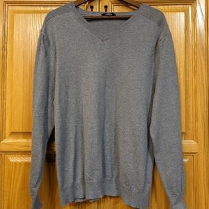 Denver Hayes, NWOT grey mens XL, cotton cashmere